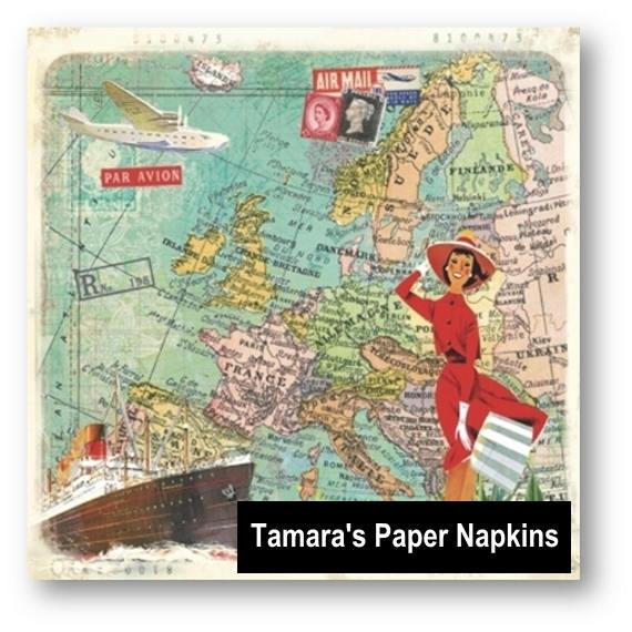 4 Decoupage Napkins Paper Napkins Travel To Europe