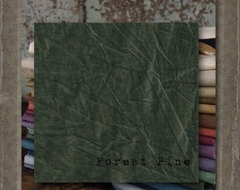 Fabric 1 YARD: Over-dyed Aged Muslin Cloth (New) - Forest Pine NEW! Color 0114 Marcus Fabrics