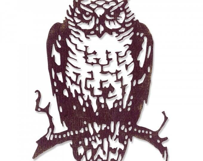New! Sizzix Tim Holtz Halloween Thinlits Die - Ornate Owl - 662380