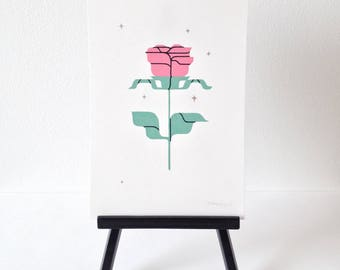 Rose #2- original gouache painting