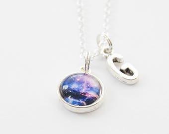 Galaxy Necklace, Space Necklace, Cosmos Necklace, Galaxy Jewelry, Space Jewelry,  Cosmos Jewelry, Space Accessories, Galaxy pendant