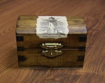 Vintage Nautical Theme Treasure Chest Trinket Box