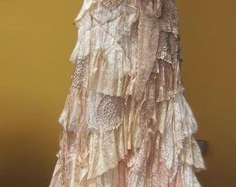 Handmade Elf, Faery,Shabby,Bohemian,Lace Dress