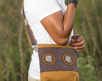 African Bag, Crossbody purse, crossbody bags for women , crossbody purse zipper, crossbody travel purse