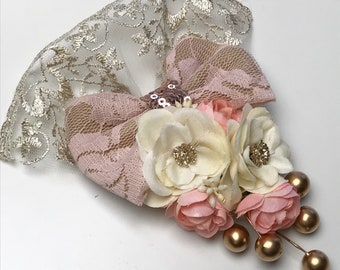 Vintage Hair Accessory, classic bow, handmade bows