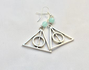 Clearance  Jade and Hallows inspired earrings
