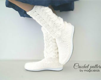 Crochet pattern : women lace boots on rubber soles,outdoor crochet boots,women crochet boots for street,adult sizes,lace boots,footwear,teen