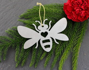 Love Bumble Bee Christmas Ornament Gardening Insects Bugs Honey Personalized Gift Thanksgiving Gift for Him Her Nature Outside Bee Keeper