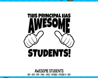Awesome SVG Principal SVG Teacher SVG Teacher Shirt svg Thumbs Up svg Gifts for Teachers Cricut Files Silhouette Files svg dxf eps png