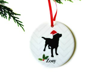 Dog Christmas Ornament - Labrador Retriever, Black Lab Personalized Pet Ornament, Memorial - Pet Gift - Unique Dog Lover, Dog Owner Gift