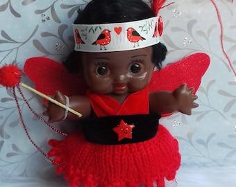 Vintage Kewpie  Christmas Fairy OOAK Doll Tree Topper