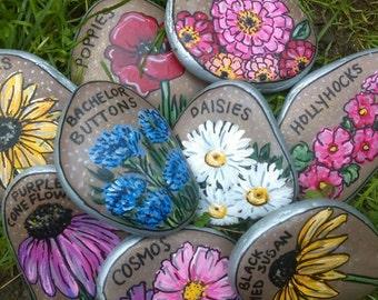 Custom Flower Garden Markers Set of 15