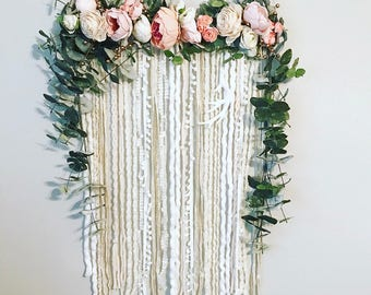 Delicieux Floral Wall Hanging, Flower Wall Hanging, Nursery Wall Hanging, Large Wall  Hanging,