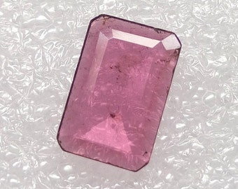 Most Beautiful Very Rare Pink Tourmaline Gemstone, Pink Tourmaline Stone / 14.4x9.6x3.1 mm Faceted Tourmaline Pink Stones