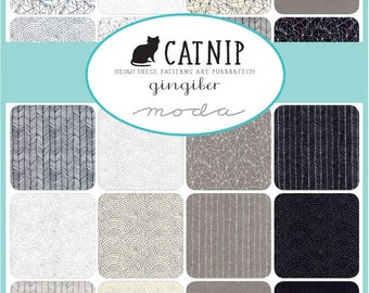 CATNIP Fat Quarter Bundle PLUS 2 CAT Panels by Gingiber For Moda Fabric 22 fq's and 2 Cat Panels