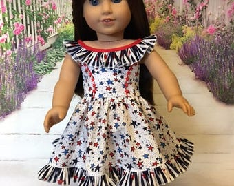 Stars and Stripes fits American Girl Doll and 18 inch dolls