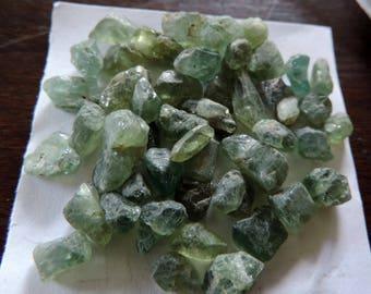 Apatite bleu, 24 grammes de gemmes brutes du Kenya.#AP24