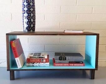 Modern Media Console, Mid Century, Vinyl Storage, Record Cabinet, Credenza,  Coffee