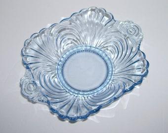 Cambridge Glass Caprice Moonlight Blue BonBon  Dish