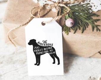 Dog Address Stamp, Custom Address Stamp, Rhodesian Ridgeback Return Address Stamp, Self Ink Stamp, Wedding Stamp,Doglover Housewarming Gift,