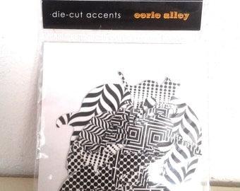 SEI Die Cut  Accents - Halloween Eerie Alley-10 Pieces-Spiders,Bats-Brand New