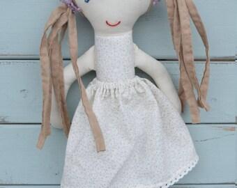 Fabric rag doll, rag doll, handmade, doll, cloth doll
