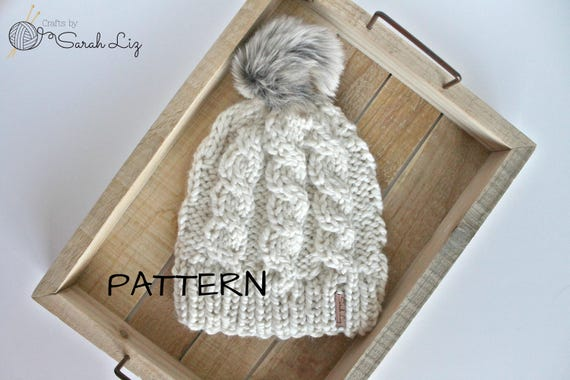 Knitting Pattern Bianca Hat Cable Knit Hat Cable Hat Pattern