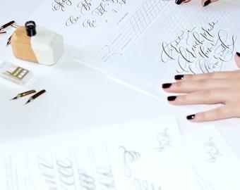 Calligraphy alphabet etsy studio