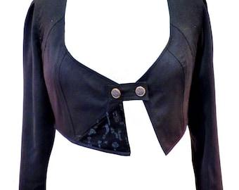 "Sale jacket short black jacket fitted iridescent ""Starz"" 44/46"
