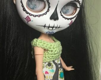 Dia de los Muertos OOAK Custom Blythe Doll named Esmee by Emmy Blythe