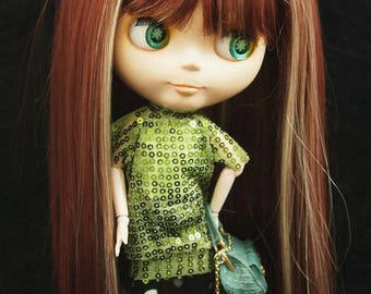 Sequined Dress Blythe and Pullip dolls