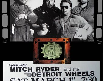 BACHMAN TURNER OVERDRIVE concert poster syria mosque , pittsburgh, pa. laminated  high gloss 11 in by 17 in