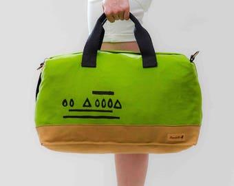 Weekender Bag, Canvas Weekender, Overnight Bag, Duffle Bag, Sports Bag, Gym Bag, Vegan Bag, Travel Bag, Luggage, Cabin Bag, Gift Him Her