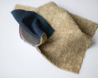 Newborn photo outfit faux fur mini blanket / baby photo outfit faux fur blanket / newborn photography props / newborn posing fabric fur