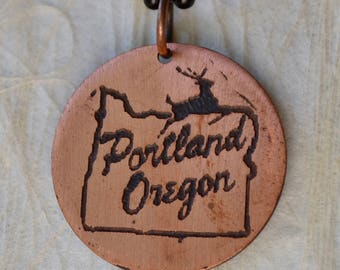 Portland Oregon Stag Pendant