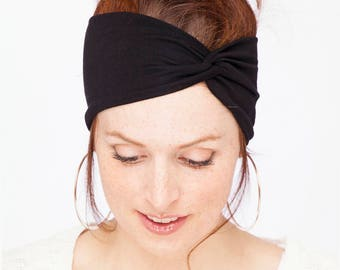 Black Turban Headband - Women Turban Headband Black Headwrap Black Headband Twist Headband Women Black Turban Headband Women Headband