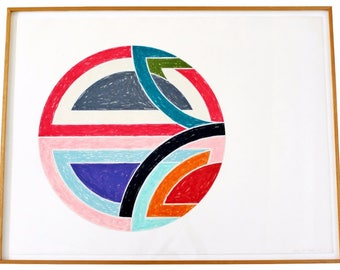 Contemporary Frank Stella Sinjerli Variations 1A Signed Lithograph 1977 9/100