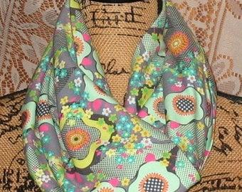 Infinity Pocket Scarf, travel scarf, zipper scarf, money pocket scarf, cell phone pocket