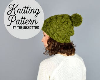 PATTERN // The Rialto Hat // Chunky Knit Beanie Pattern