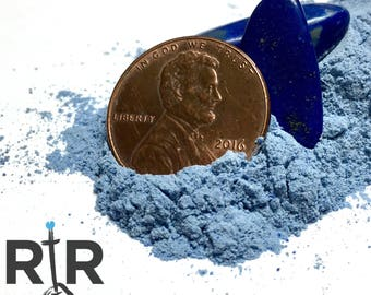 Crushed Lapis Lazuli Powder - 100% Natural Stone Without Filler