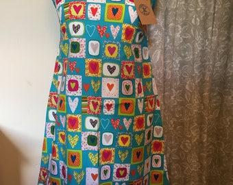 Funky Heart print Ava dress - size 12