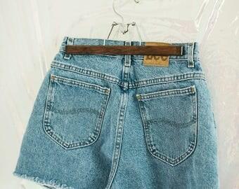 Vintage Lee High Waisted Denim Shorts