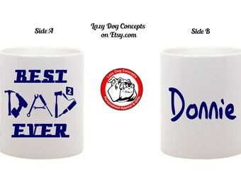 Best Dad Ever Tool Coffee Mug with Name - Coffee Cup - Tea Cup - Gift for Guys, Father's Day, Birthday