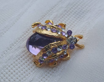 Jelly belly,bug pin, purple