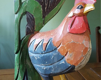 Wooden rooster,large.