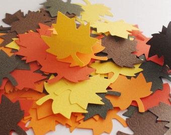Maple Leaves confetti, Thanksgiving confetti, Fall wedding decor, Fall baby shower, Autumn wedding,set of 100