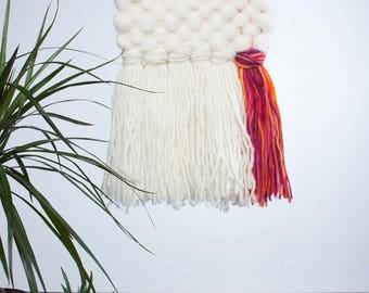Unicorn Weaving // Woven Wall Hanging