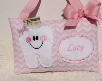 Personalized Pillow - Tooth Fairy Pillow - Girls Tooth Fairy PIllow - Childs Tooth Fairy Pillow  -  Childs Pillow - Girls Tooth Pillow