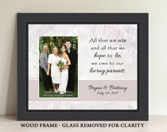 Parents-Wedding-Gift Personalized Picture Frame Wedding Photo Frame Personalized In Laws Gift Parents Thank You Gift
