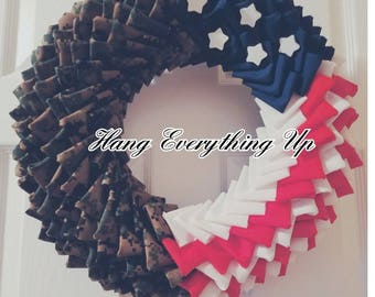 Military Wreath Army Air Force Navy Marines